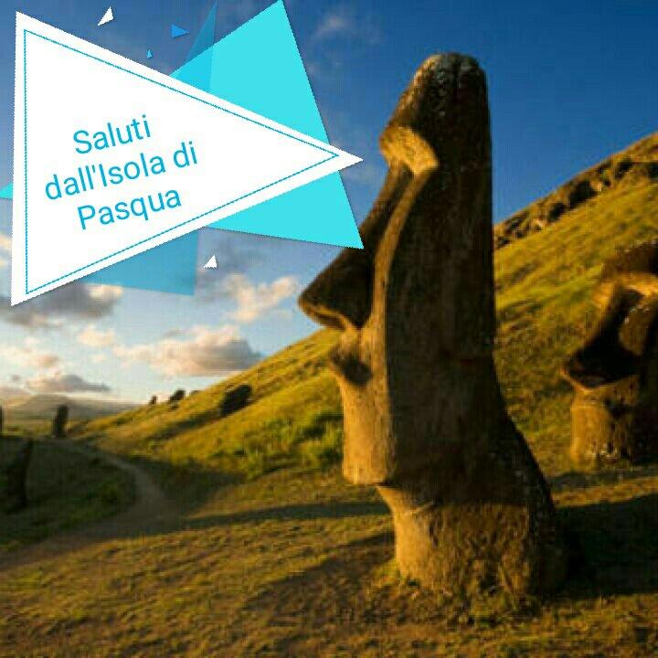 #CartolineDalMondo: saluti dall'isola di Pasqua.