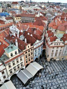 Praga vista dalla torre dell'Orologio Astronomico