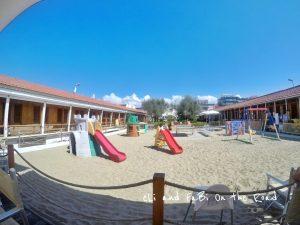 Area giochi sulla spiaggia Viareggio
