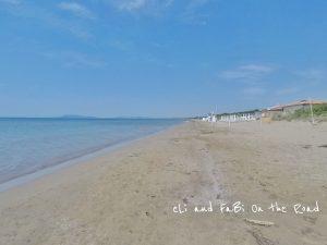 Una delle spiagge libere all'Argentario